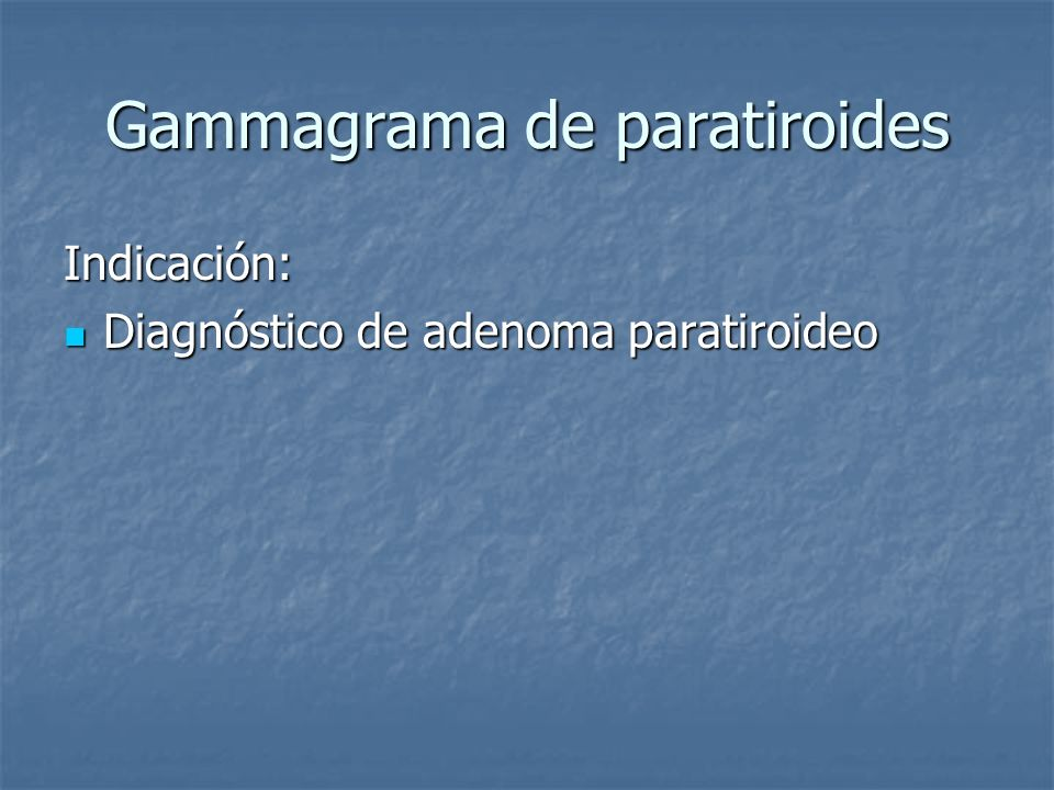 Gammagrama de paratiroides