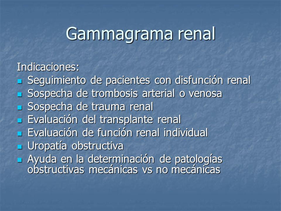 Gammagrama renal Indicaciones: