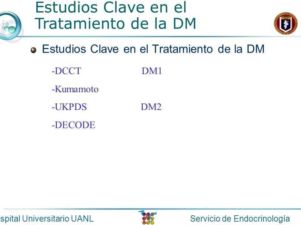 Estudios Clave en el Tratamiento de la DM