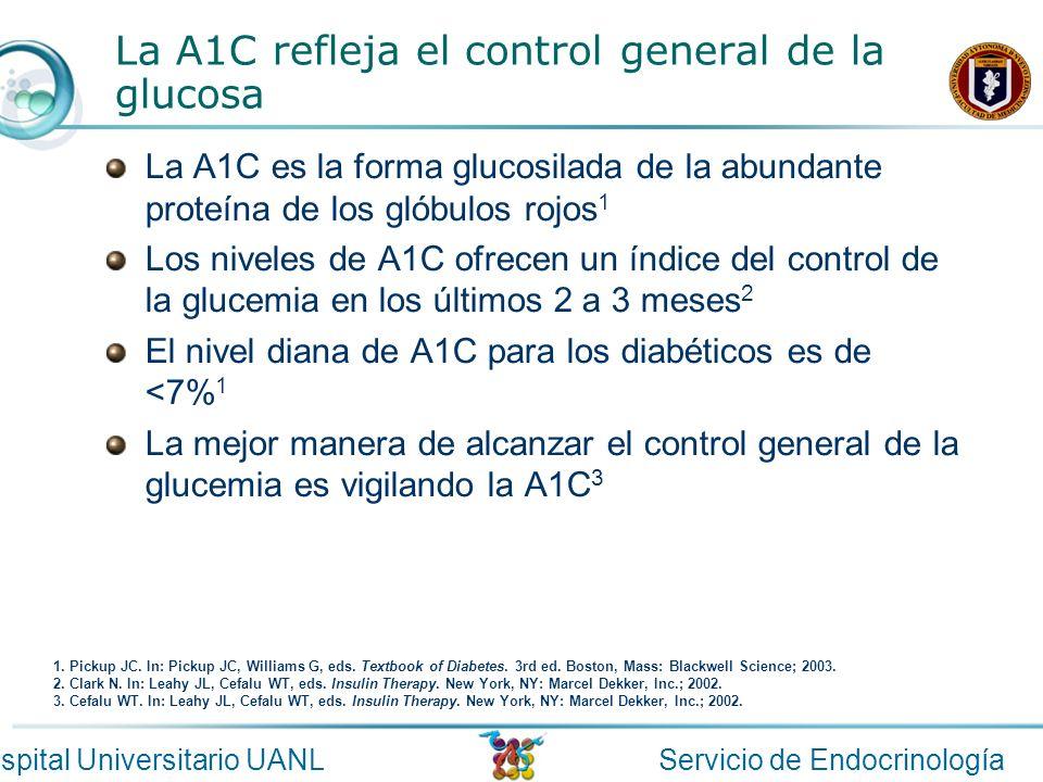 La A1C refleja el control general de la glucosa