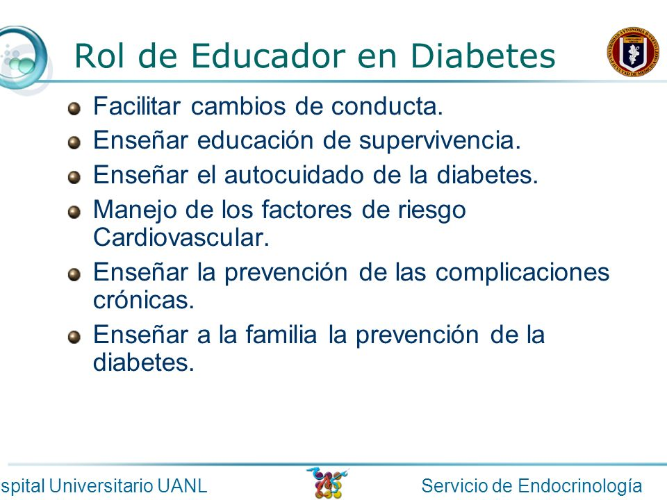 Rol de Educador en Diabetes