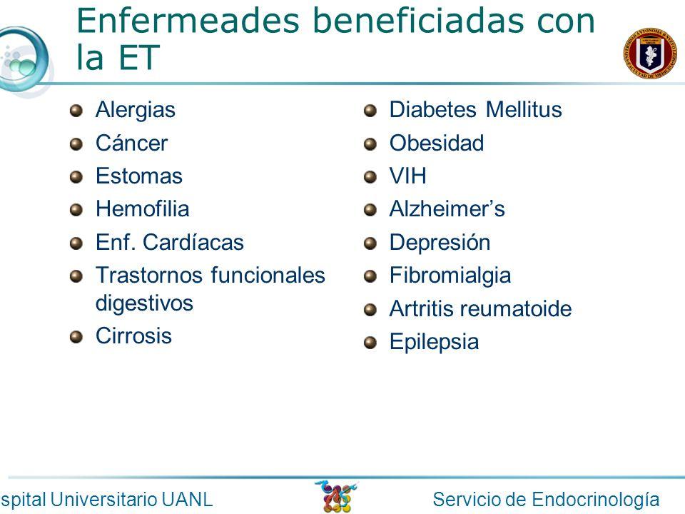 Enfermeades beneficiadas con la ET