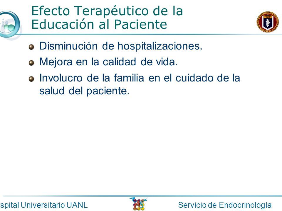 Efecto Terapéutico de la Educación al Paciente