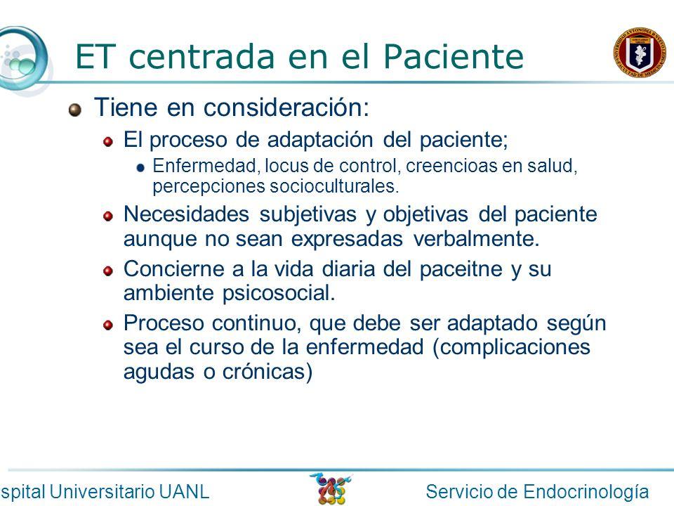ET centrada en el Paciente