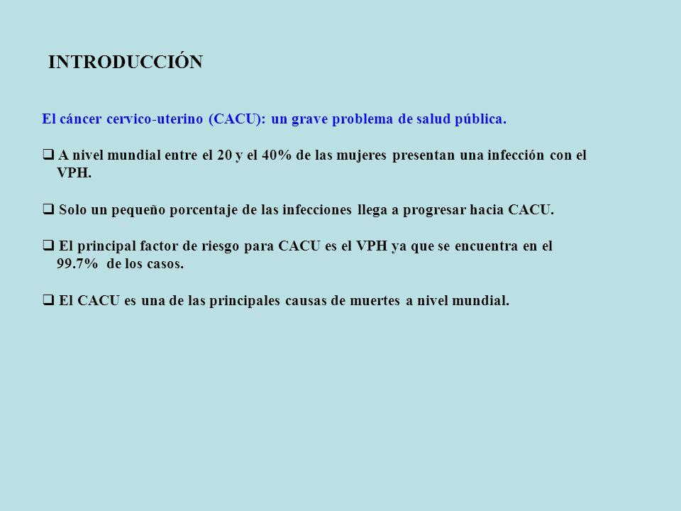 INTRODUCCIÓN El cáncer cervico-uterino (CACU): un grave problema de salud pública.