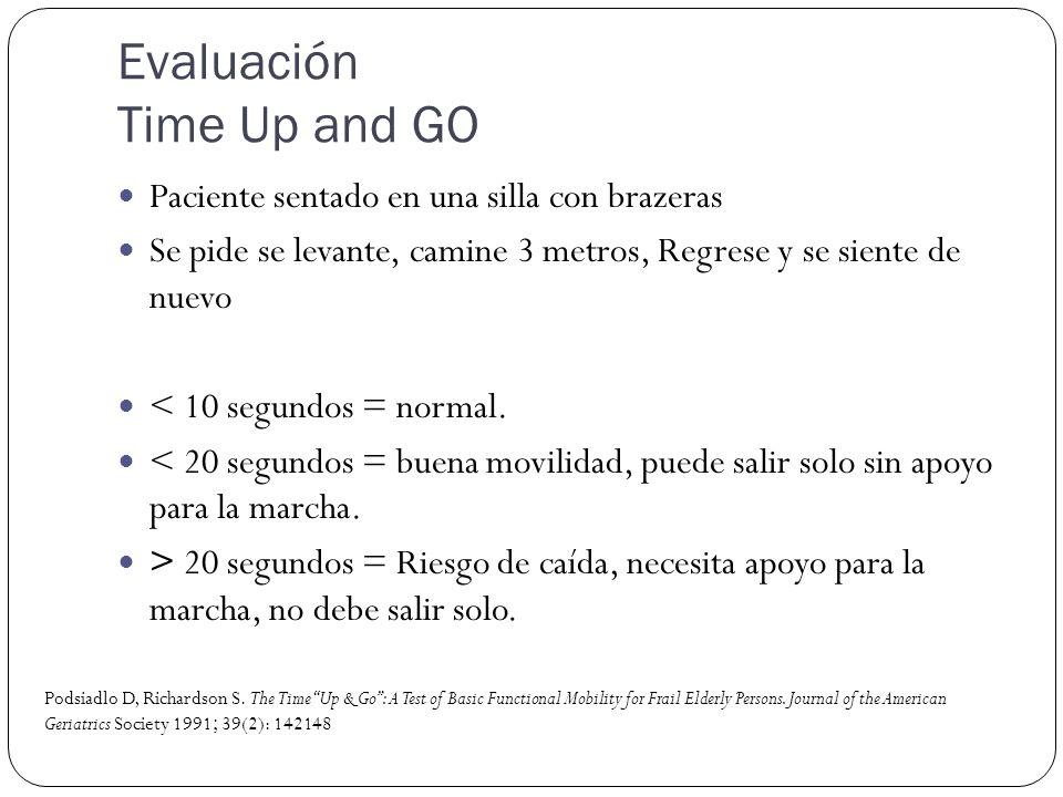Evaluación Time Up and GO
