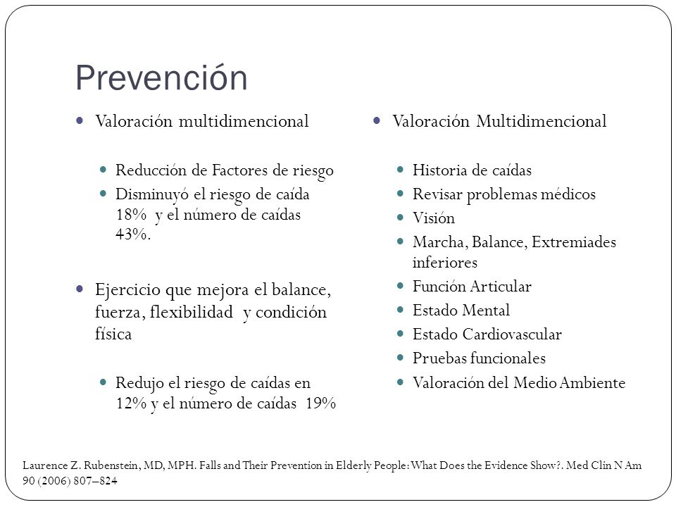 Prevención Valoración multidimencional