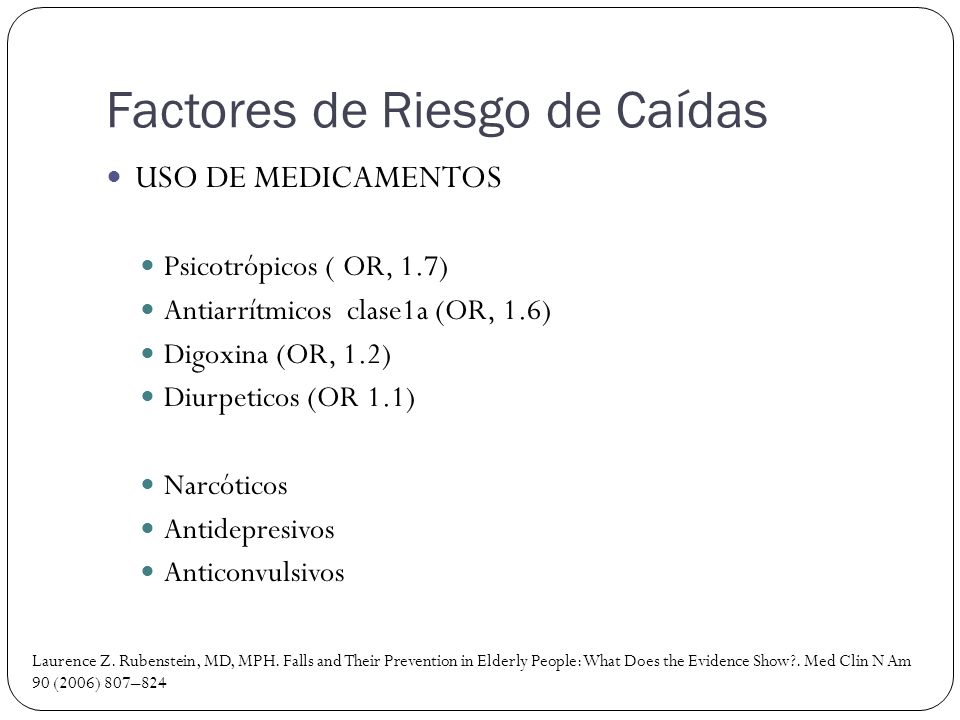 Factores de Riesgo de Caídas
