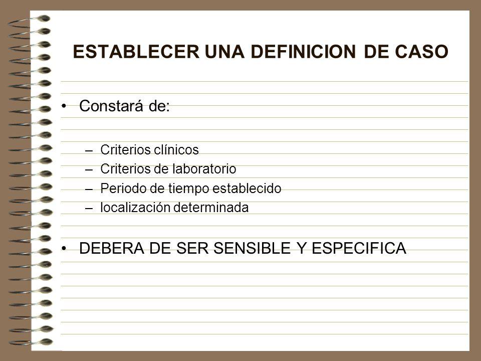 ESTABLECER UNA DEFINICION DE CASO