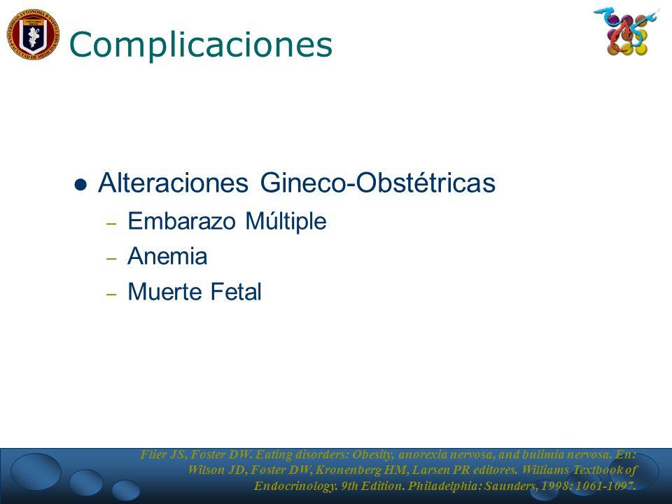 Complicaciones Alteraciones Gineco-Obstétricas Embarazo Múltiple