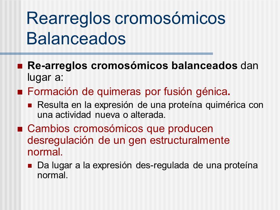 Rearreglos cromosómicos Balanceados