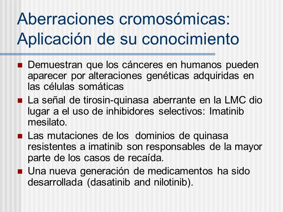 Aberraciones cromosómicas: Aplicación de su conocimiento