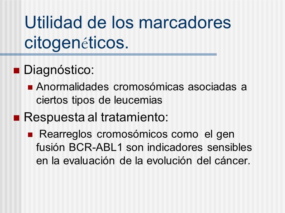 Utilidad de los marcadores citogenéticos.