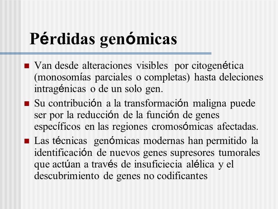 Pérdidas genómicas