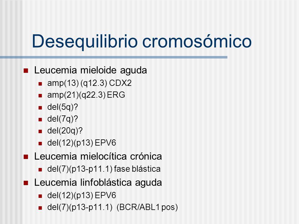 Desequilibrio cromosómico