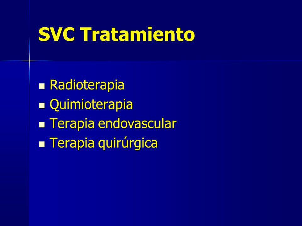 SVC Tratamiento Radioterapia Quimioterapia Terapia endovascular