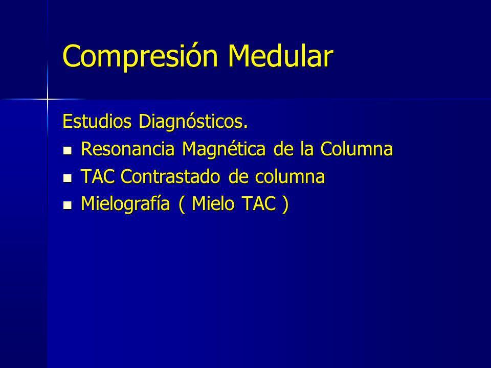 Compresión Medular Estudios Diagnósticos.