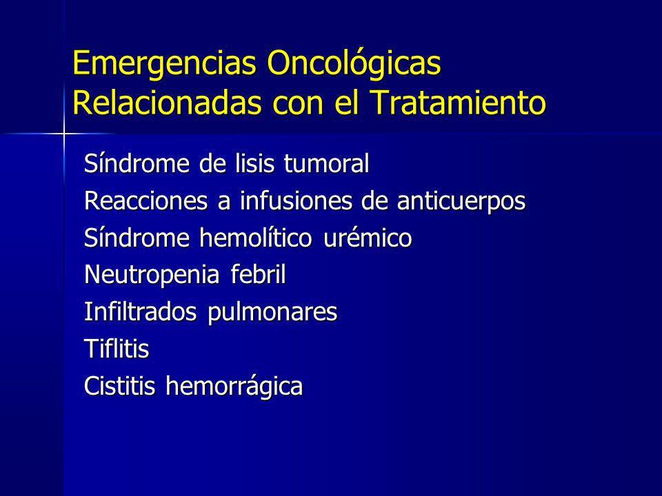 Emergencias Oncológicas Relacionadas con el Tratamiento