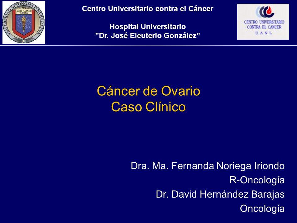 Cáncer de Ovario Caso Clínico
