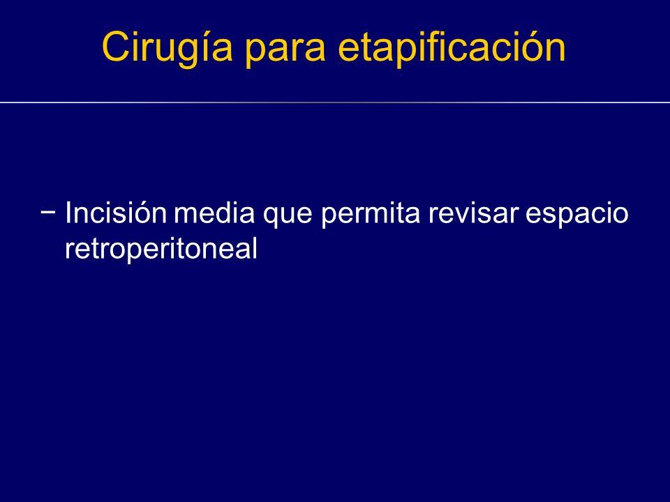 Cirugía para etapificación