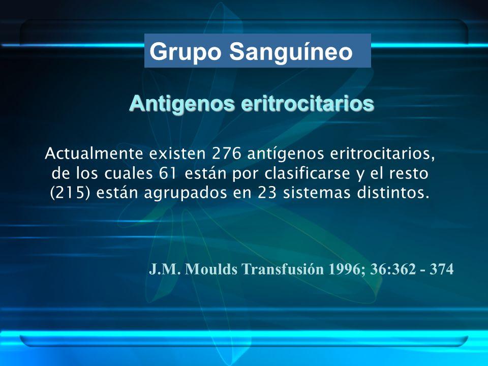 Antigenos eritrocitarios