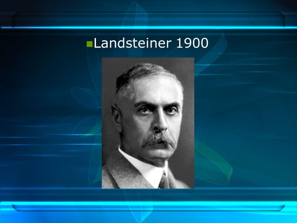 Landsteiner 1900