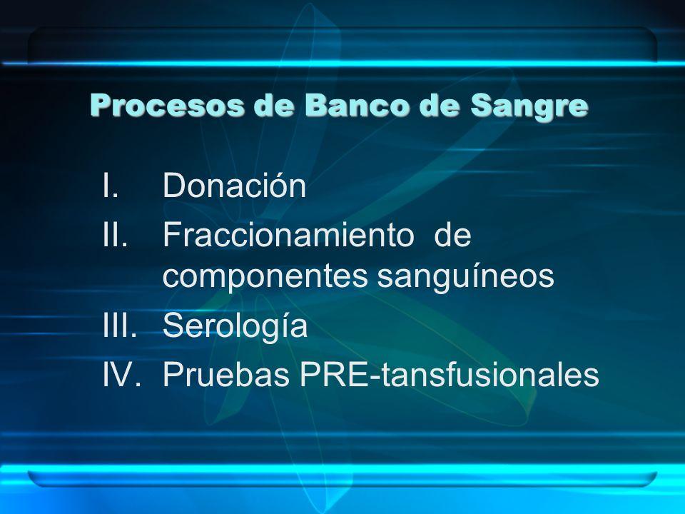 Procesos de Banco de Sangre