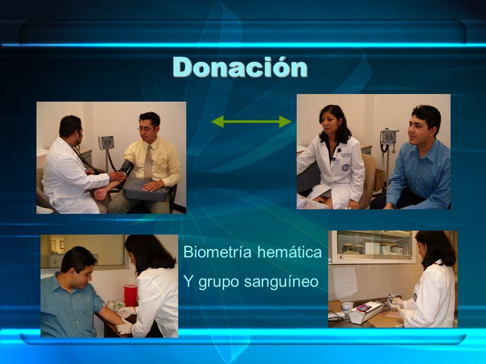 Donación Biometría hemática Y grupo sanguíneo