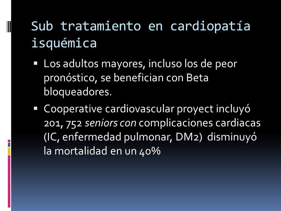 Sub tratamiento en cardiopatía isquémica