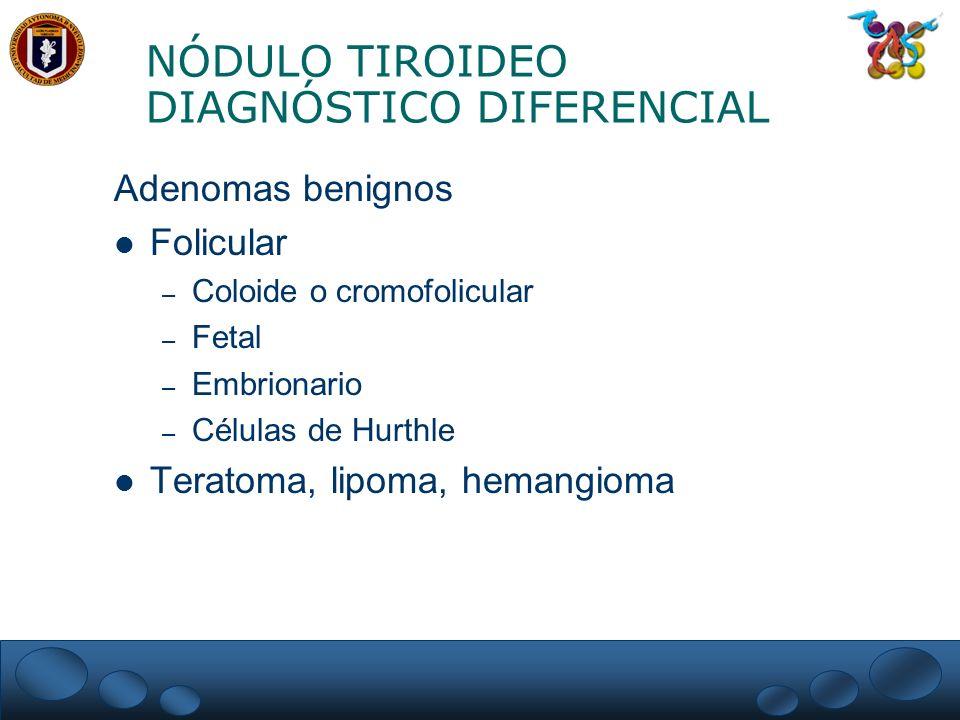 NÓDULO TIROIDEO DIAGNÓSTICO DIFERENCIAL