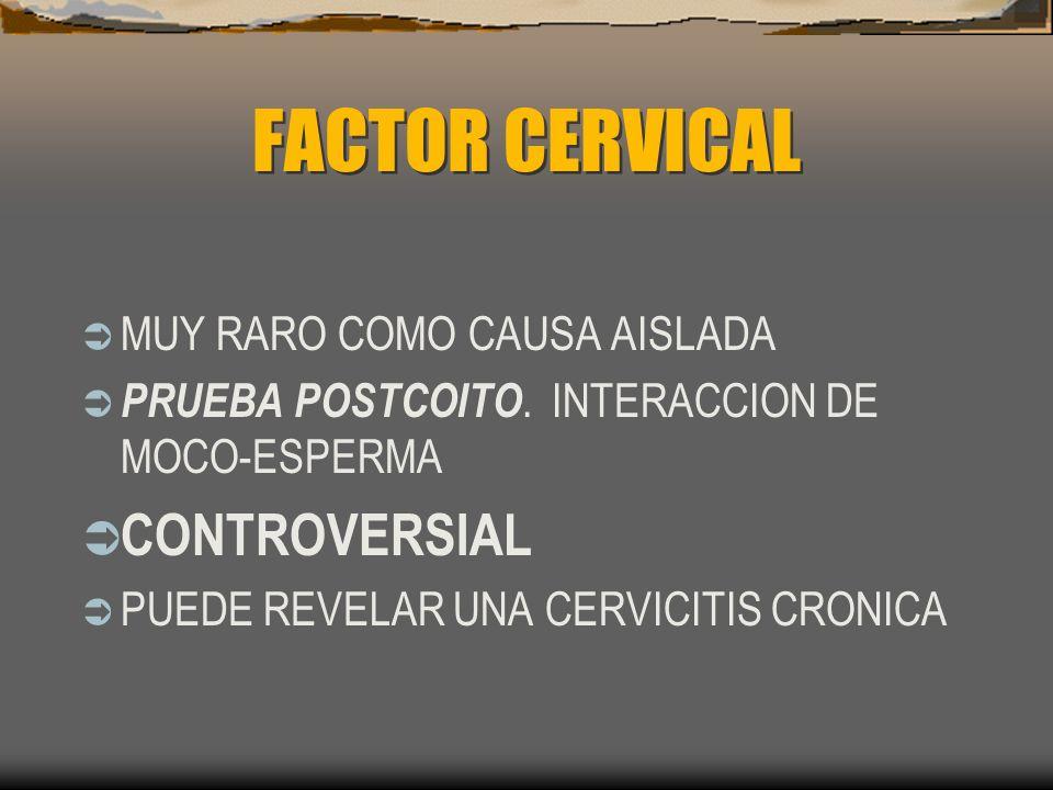 FACTOR CERVICAL CONTROVERSIAL MUY RARO COMO CAUSA AISLADA