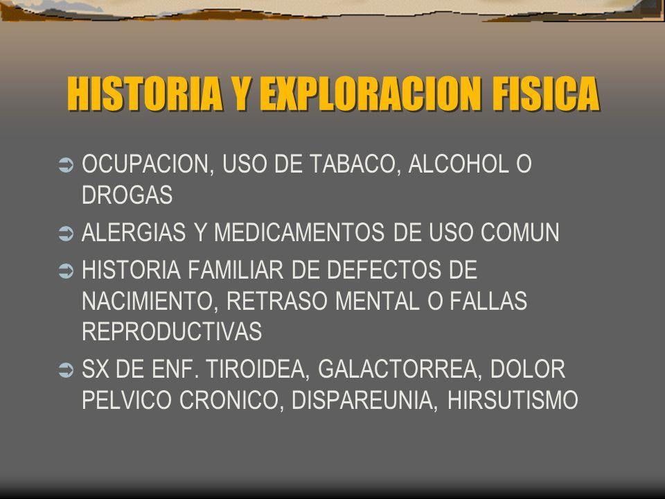 HISTORIA Y EXPLORACION FISICA