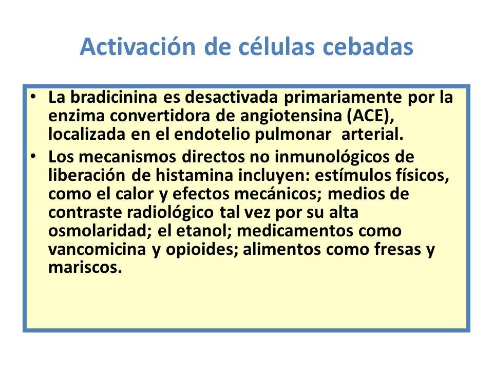 Activación de células cebadas