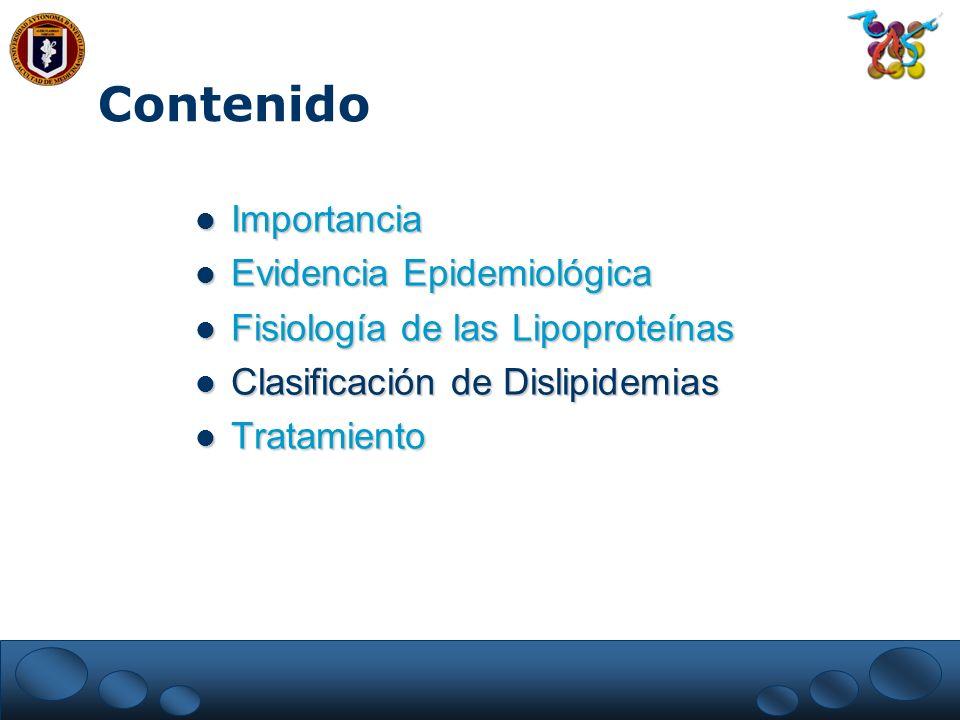 Contenido Importancia Evidencia Epidemiológica