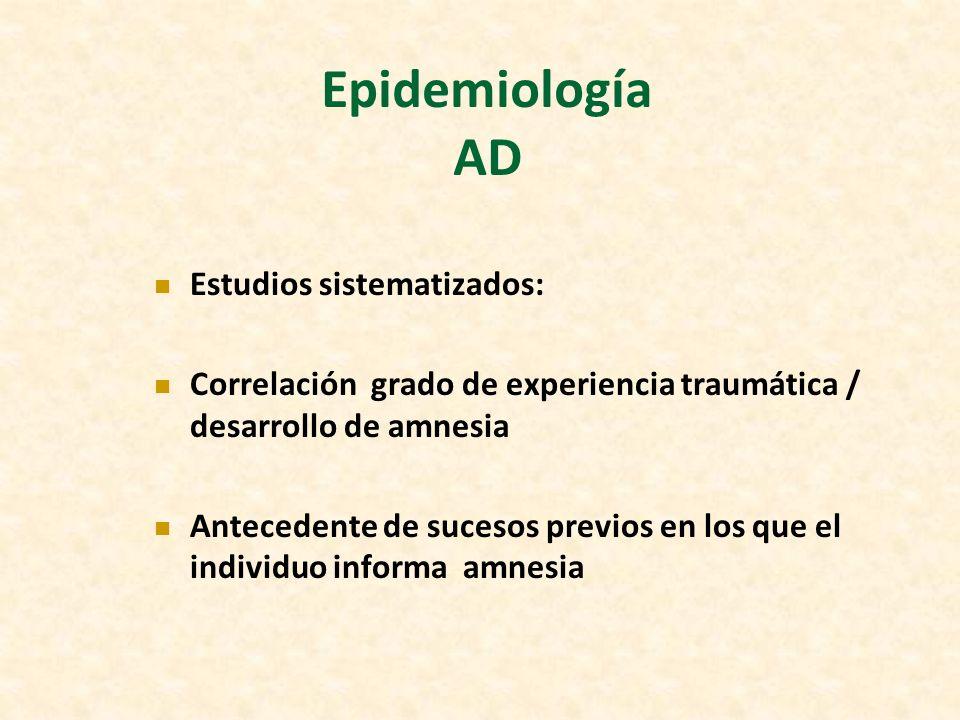 Epidemiología AD Estudios sistematizados: