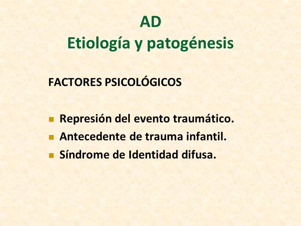 AD Etiología y patogénesis