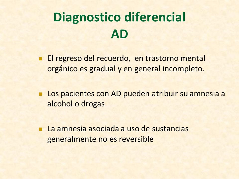 Diagnostico diferencial AD