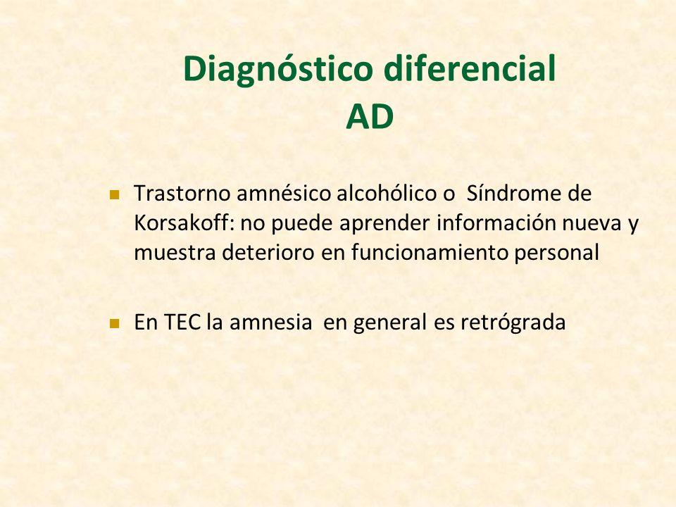 Diagnóstico diferencial AD