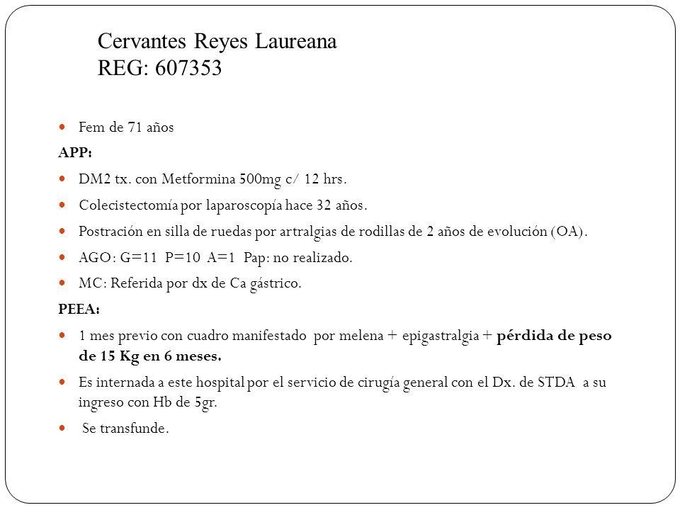 Cervantes Reyes Laureana REG: 607353