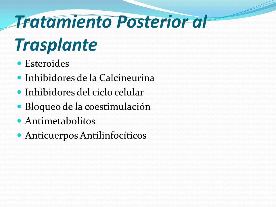 Tratamiento Posterior al Trasplante