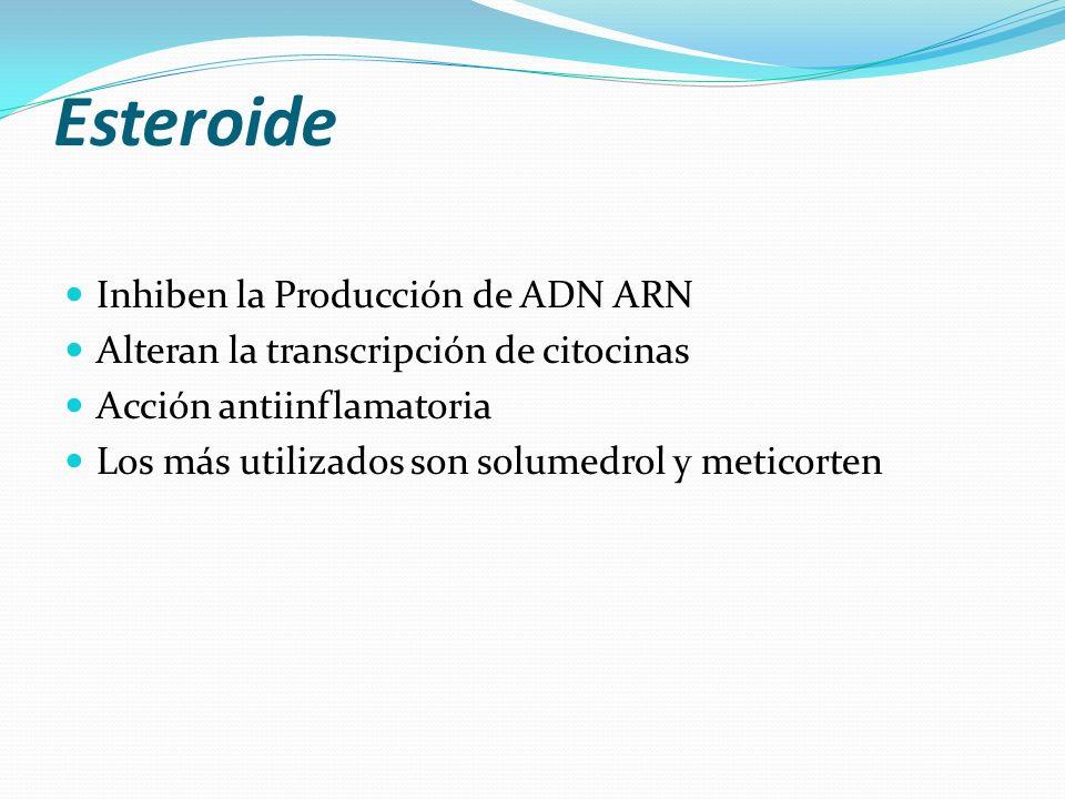 Esteroide Inhiben la Producción de ADN ARN