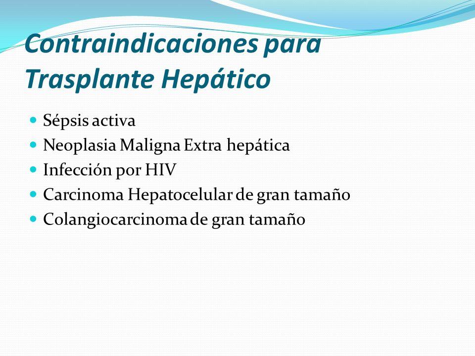 Contraindicaciones para Trasplante Hepático
