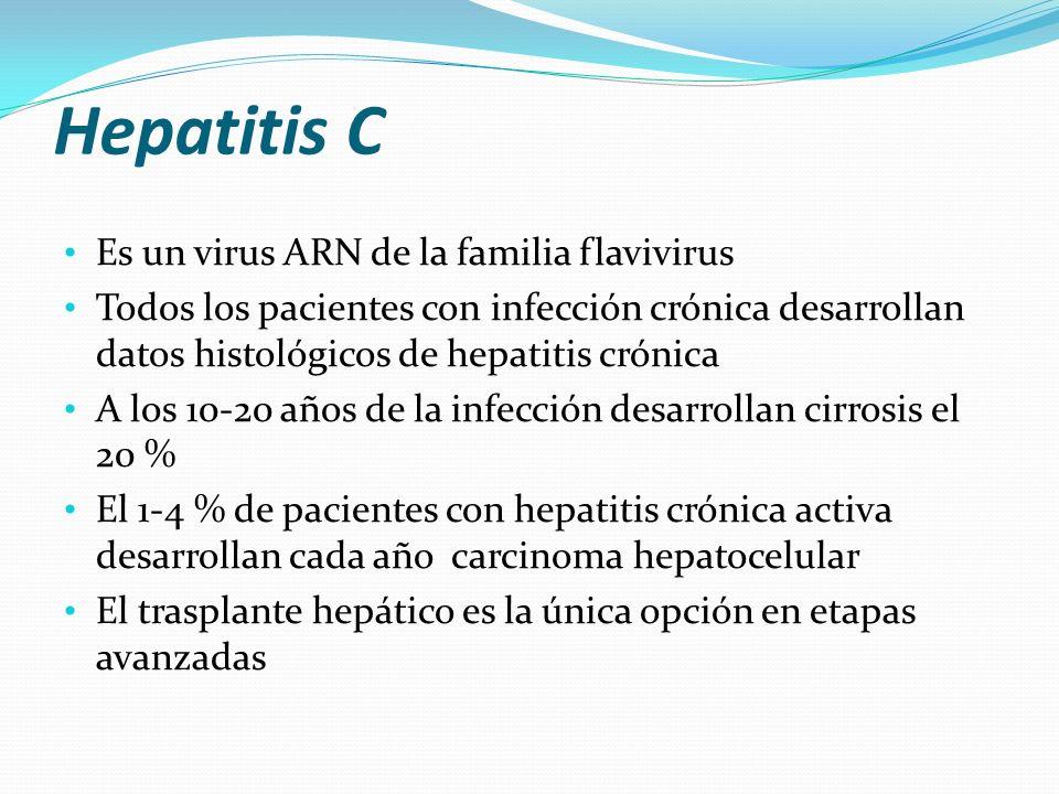 Hepatitis C Es un virus ARN de la familia flavivirus