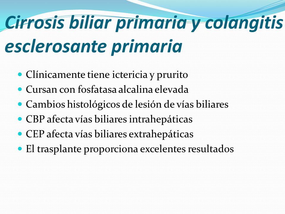 Cirrosis biliar primaria y colangitis esclerosante primaria