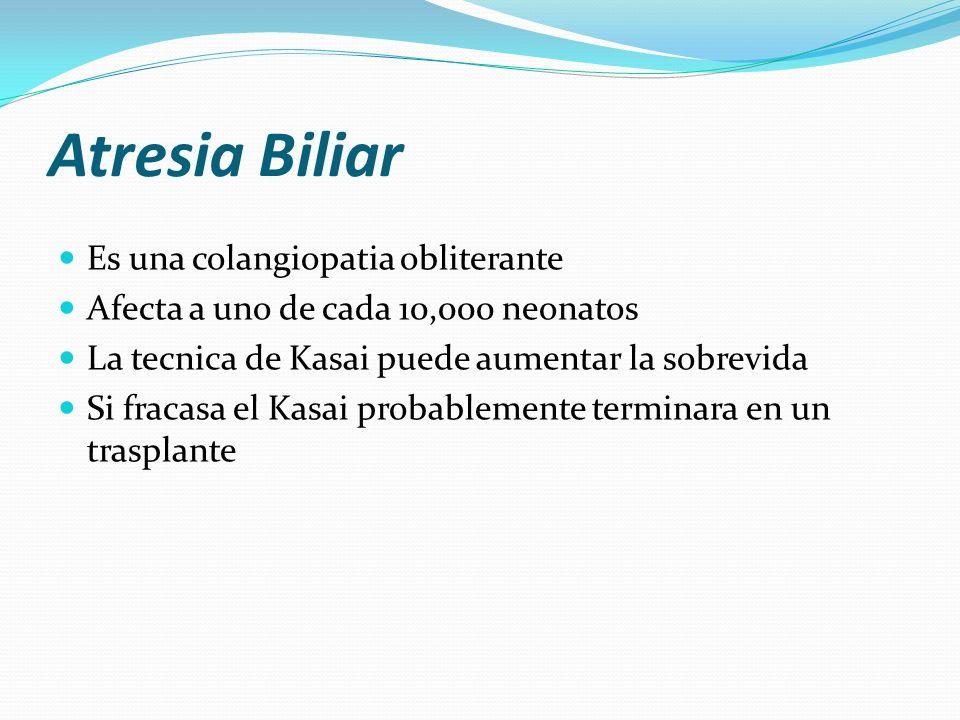 Atresia Biliar Es una colangiopatia obliterante