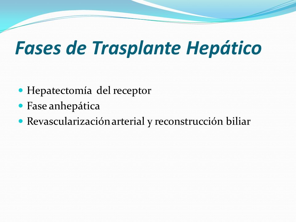 Fases de Trasplante Hepático