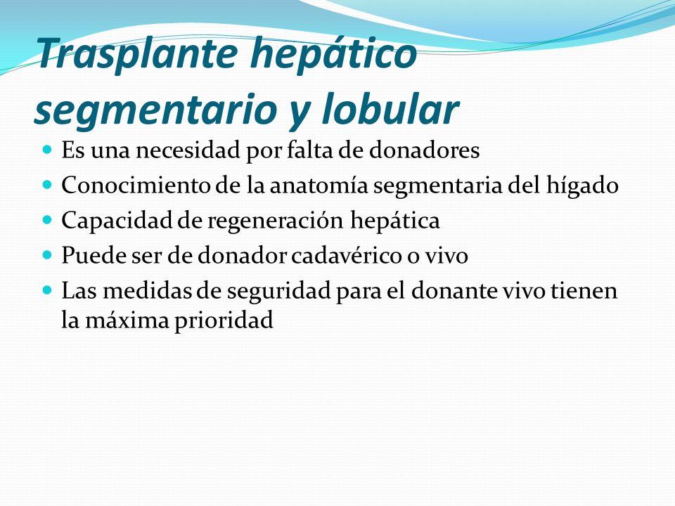 Trasplante hepático segmentario y lobular