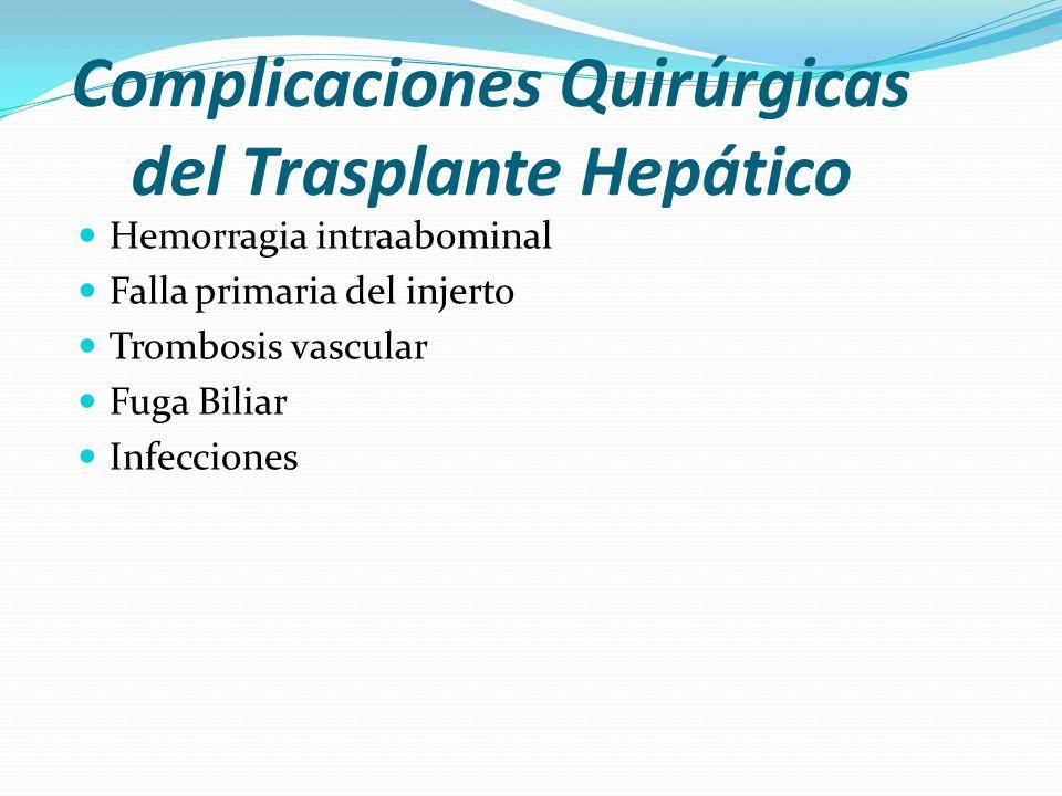 Complicaciones Quirúrgicas del Trasplante Hepático