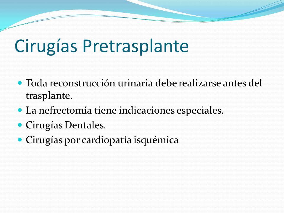 Cirugías Pretrasplante
