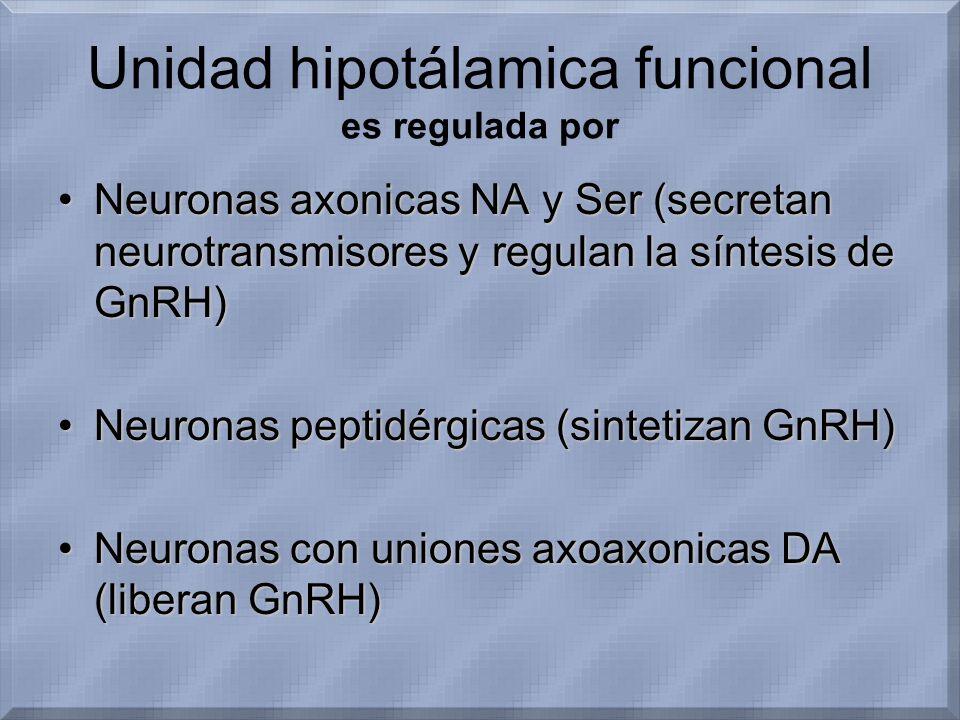 Unidad hipotálamica funcional es regulada por